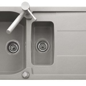 Telma Corax Bowl & Half Cream Sink